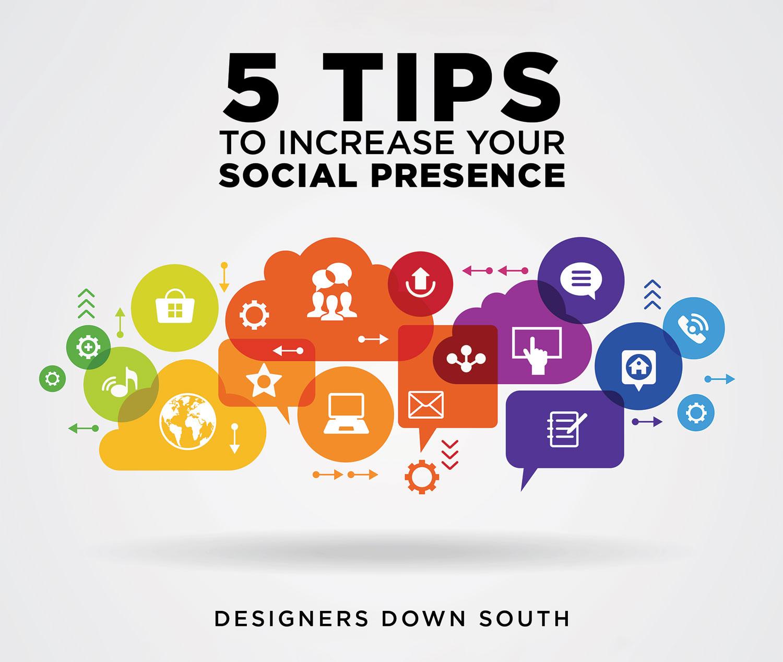 5 tips social presence header